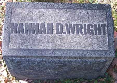 WRIGHT, HANNAH D. - Stark County, Ohio | HANNAH D. WRIGHT - Ohio Gravestone Photos