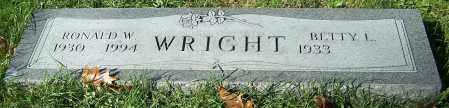 WRIGHT, RONALD W. - Stark County, Ohio | RONALD W. WRIGHT - Ohio Gravestone Photos