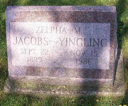 YINGLING, ZELPHA M. JACOBS - Stark County, Ohio   ZELPHA M. JACOBS YINGLING - Ohio Gravestone Photos