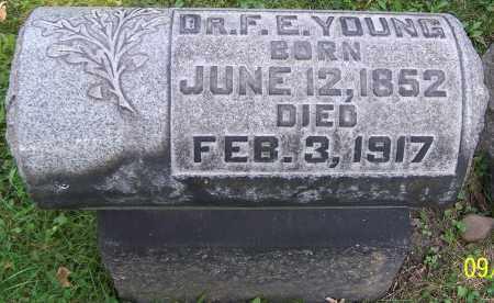 YOUNG, DR.F.E. - Stark County, Ohio | DR.F.E. YOUNG - Ohio Gravestone Photos