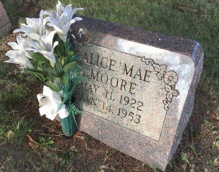 MOORE, ALICE MAE - Summit County, Ohio | ALICE MAE MOORE - Ohio Gravestone Photos