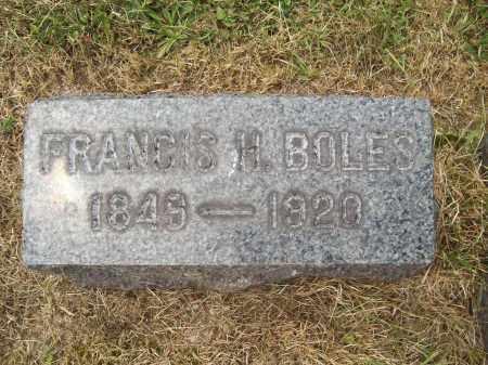 BOLES, FRANCIS H. - Trumbull County, Ohio   FRANCIS H. BOLES - Ohio Gravestone Photos