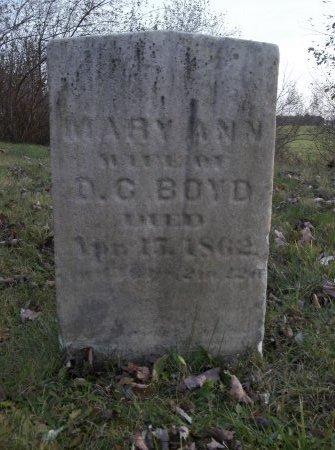 BOYD, MARY ANN - Trumbull County, Ohio   MARY ANN BOYD - Ohio Gravestone Photos