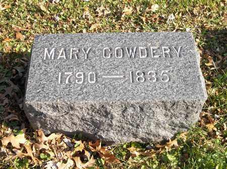 COWDERY, MARY - Trumbull County, Ohio | MARY COWDERY - Ohio Gravestone Photos