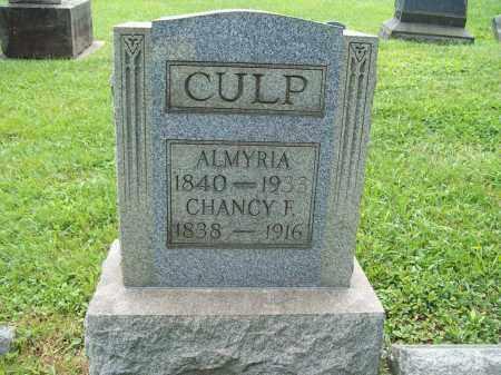 CULP, CHANCEY FORWARD - Trumbull County, Ohio | CHANCEY FORWARD CULP - Ohio Gravestone Photos