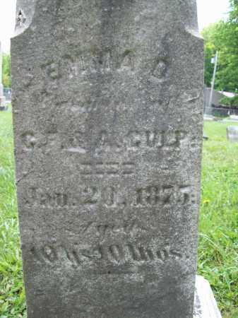 CULP, EMMA D. - Trumbull County, Ohio   EMMA D. CULP - Ohio Gravestone Photos