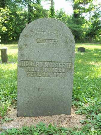 GREENE, RICHARD W. - Trumbull County, Ohio   RICHARD W. GREENE - Ohio Gravestone Photos
