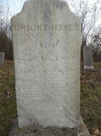 HAYES, DWIGHT - Trumbull County, Ohio | DWIGHT HAYES - Ohio Gravestone Photos