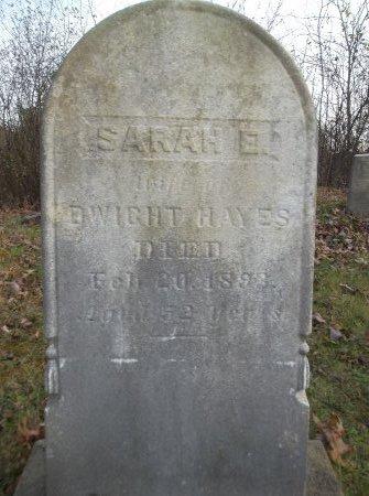 HAYES, SARAH E. - Trumbull County, Ohio | SARAH E. HAYES - Ohio Gravestone Photos