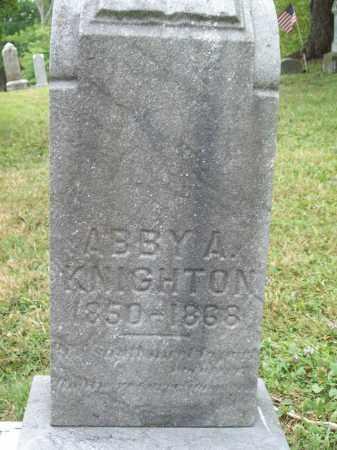 KNIGHTON, ABBY A. - Trumbull County, Ohio   ABBY A. KNIGHTON - Ohio Gravestone Photos