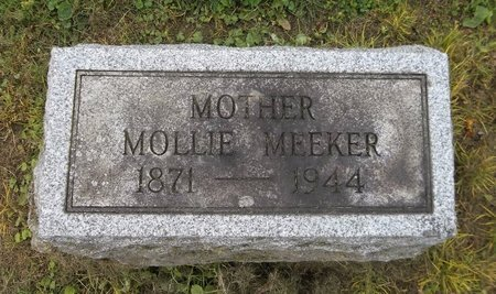MEEKER, MOLLIE - Trumbull County, Ohio | MOLLIE MEEKER - Ohio Gravestone Photos