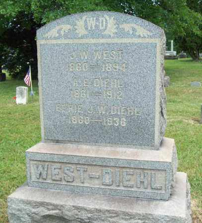 WEST, J. W. - Trumbull County, Ohio | J. W. WEST - Ohio Gravestone Photos