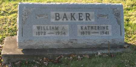 BAKER, WILLIAM A - Tuscarawas County, Ohio | WILLIAM A BAKER - Ohio Gravestone Photos