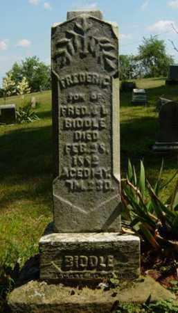 BIDDLE, FREDERIC - Tuscarawas County, Ohio   FREDERIC BIDDLE - Ohio Gravestone Photos