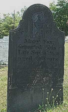 FOX, MARY - Tuscarawas County, Ohio   MARY FOX - Ohio Gravestone Photos