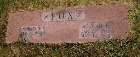 FOX, BEULAH E. - Tuscarawas County, Ohio | BEULAH E. FOX - Ohio Gravestone Photos