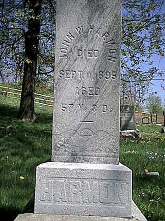 HARMON, JOHN W. - Tuscarawas County, Ohio   JOHN W. HARMON - Ohio Gravestone Photos