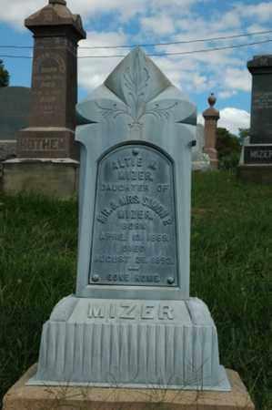 MIZER, ALTIE M. - Tuscarawas County, Ohio | ALTIE M. MIZER - Ohio Gravestone Photos