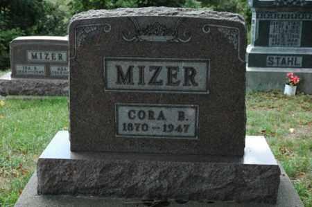 MIZER, CORA B. - Tuscarawas County, Ohio   CORA B. MIZER - Ohio Gravestone Photos