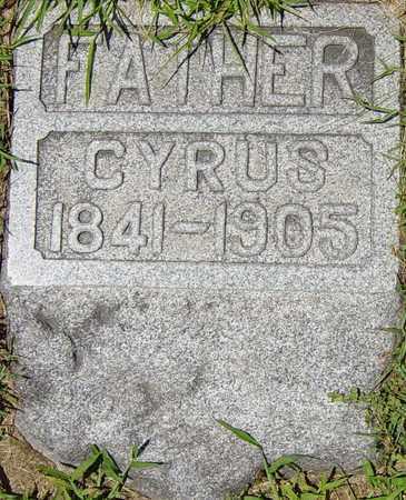 MIZER, CYRUS - Tuscarawas County, Ohio   CYRUS MIZER - Ohio Gravestone Photos