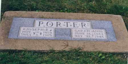 PORTER, SARAH ANN - Tuscarawas County, Ohio | SARAH ANN PORTER - Ohio Gravestone Photos