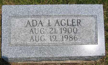 AGLER, ADA I - Union County, Ohio | ADA I AGLER - Ohio Gravestone Photos