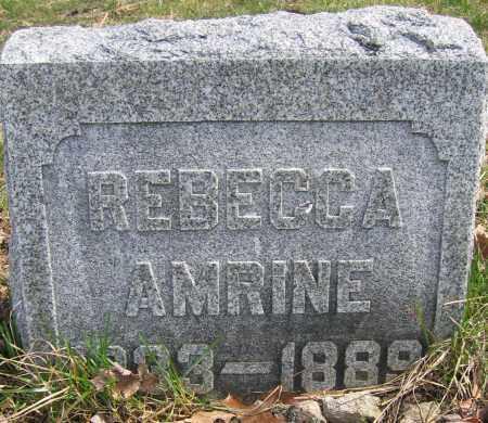 AMRINE, REBECCA - Union County, Ohio   REBECCA AMRINE - Ohio Gravestone Photos