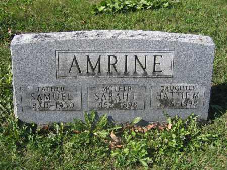 AMRINE, HATTIE M. - Union County, Ohio | HATTIE M. AMRINE - Ohio Gravestone Photos