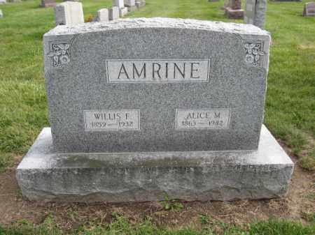 AMRINE, ALICE M. - Union County, Ohio   ALICE M. AMRINE - Ohio Gravestone Photos