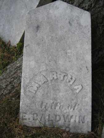 BALDWIN, MARTHA - Union County, Ohio | MARTHA BALDWIN - Ohio Gravestone Photos