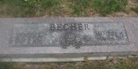 BECHER, WERNER L. - Union County, Ohio | WERNER L. BECHER - Ohio Gravestone Photos