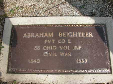 BEIGHTLER, ABRAHAM - Union County, Ohio   ABRAHAM BEIGHTLER - Ohio Gravestone Photos