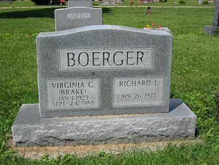 BOERGER, VIRGINIA C. - Union County, Ohio   VIRGINIA C. BOERGER - Ohio Gravestone Photos