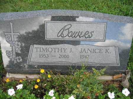 BOWERS, JANICE K. - Union County, Ohio | JANICE K. BOWERS - Ohio Gravestone Photos