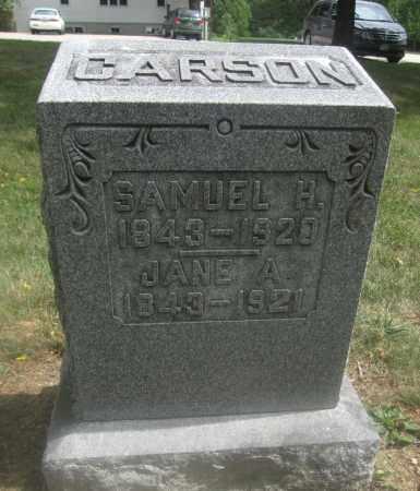 CARSON, SAMUEL H. - Union County, Ohio   SAMUEL H. CARSON - Ohio Gravestone Photos
