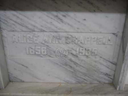 CHAPPELL, ALICE ANN - Union County, Ohio   ALICE ANN CHAPPELL - Ohio Gravestone Photos