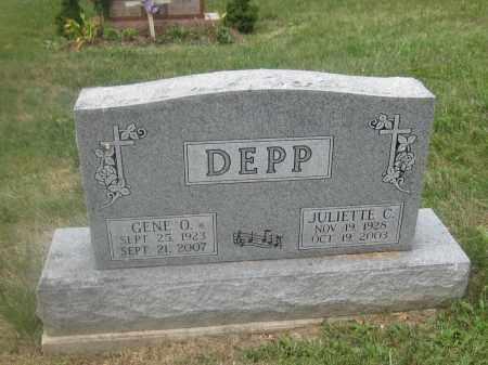 DEPP, JULIETTE C. - Union County, Ohio | JULIETTE C. DEPP - Ohio Gravestone Photos