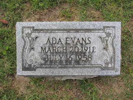 EVANS, ADA - Union County, Ohio   ADA EVANS - Ohio Gravestone Photos