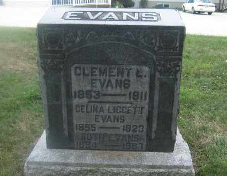 EVANS, RUTH - Union County, Ohio | RUTH EVANS - Ohio Gravestone Photos