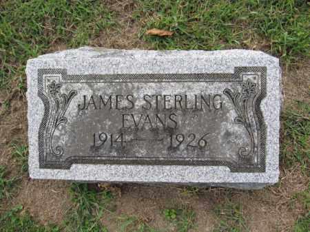 EVANS, JAMES STERLING - Union County, Ohio   JAMES STERLING EVANS - Ohio Gravestone Photos