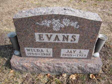 EVANS, JAY L. - Union County, Ohio | JAY L. EVANS - Ohio Gravestone Photos