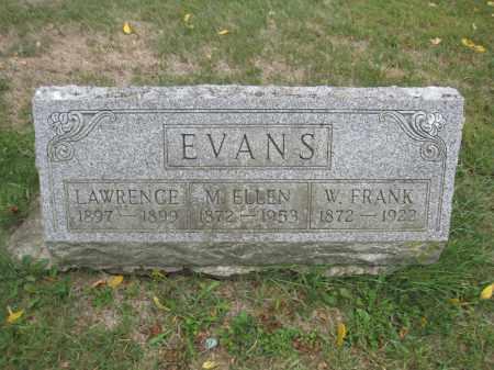 EVANS, W. FRANK - Union County, Ohio | W. FRANK EVANS - Ohio Gravestone Photos