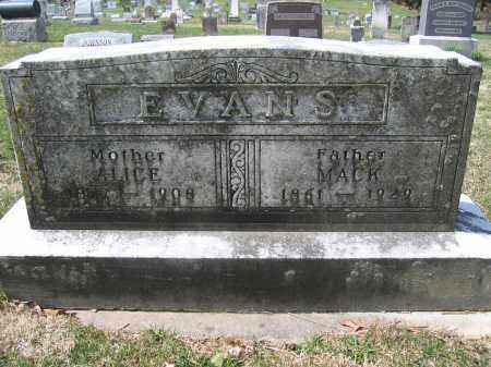EVANS, ALICE - Union County, Ohio | ALICE EVANS - Ohio Gravestone Photos