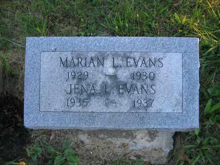 EVANS, JENA L. - Union County, Ohio | JENA L. EVANS - Ohio Gravestone Photos