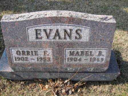 EVANS, MABEL B. - Union County, Ohio | MABEL B. EVANS - Ohio Gravestone Photos