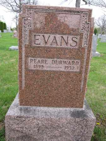 EVANS, PEARL DURWARD - Union County, Ohio   PEARL DURWARD EVANS - Ohio Gravestone Photos
