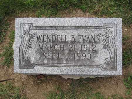 EVANS, WENDELL B. - Union County, Ohio | WENDELL B. EVANS - Ohio Gravestone Photos
