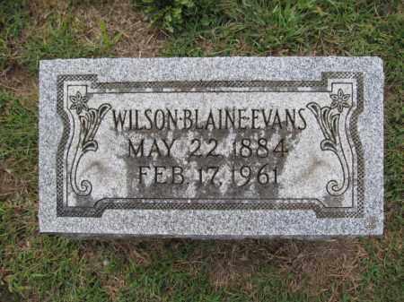 EVANS, WILSON BLAINE - Union County, Ohio   WILSON BLAINE EVANS - Ohio Gravestone Photos