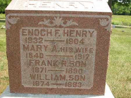 HENRY, ENOCH F. - Union County, Ohio | ENOCH F. HENRY - Ohio Gravestone Photos