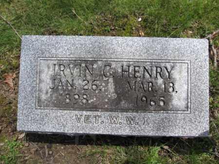 HENRY, IRVIN C. - Union County, Ohio | IRVIN C. HENRY - Ohio Gravestone Photos